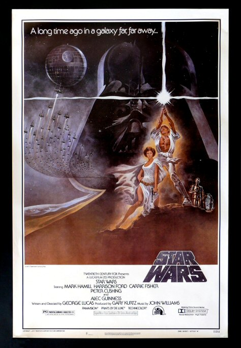 Authentic star wars movie posters